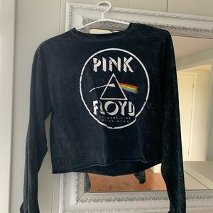 Tops - Pink Floyd cropped long sleeve